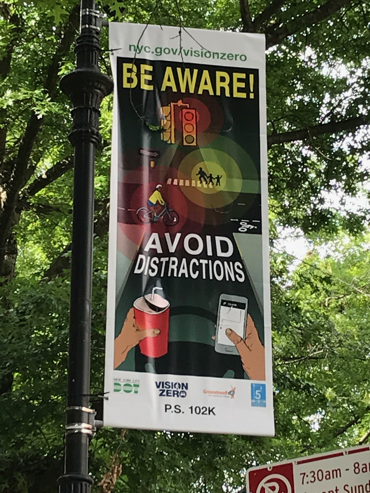 DOT Pedestrian Safety Banner