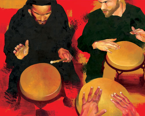 Drummers at Bembe, Brooklyn