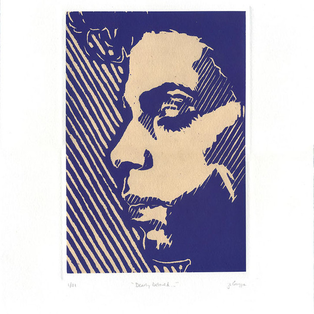 Chine-Colle, Block Relief + Screen Print on Paper