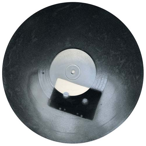 Untitled (Silver Cassette on Record)