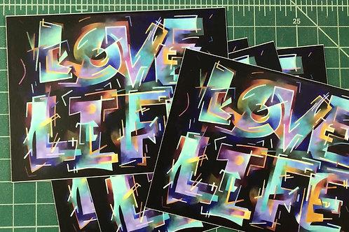 LOVE LIFE vinyl sticker (pack of 3)