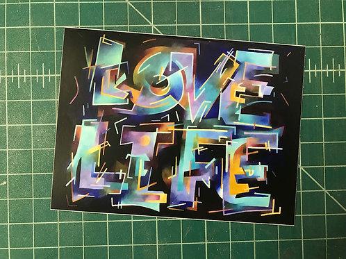 LOVE LIFE vinyl sticker (single)