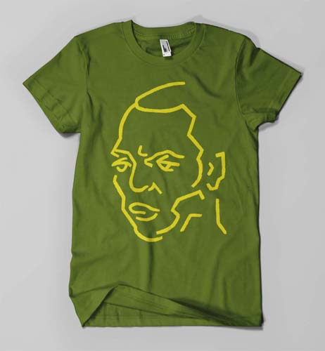 Fela Kuti (on green)