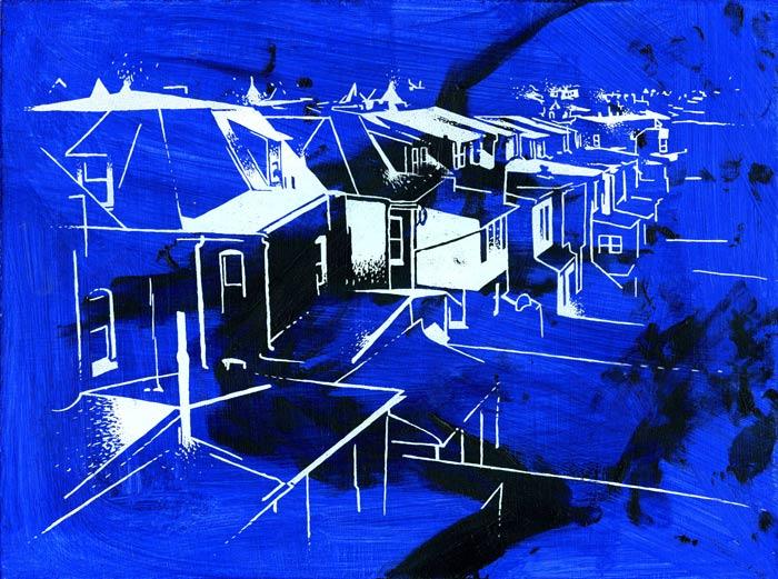 Reading PA (black + blue)