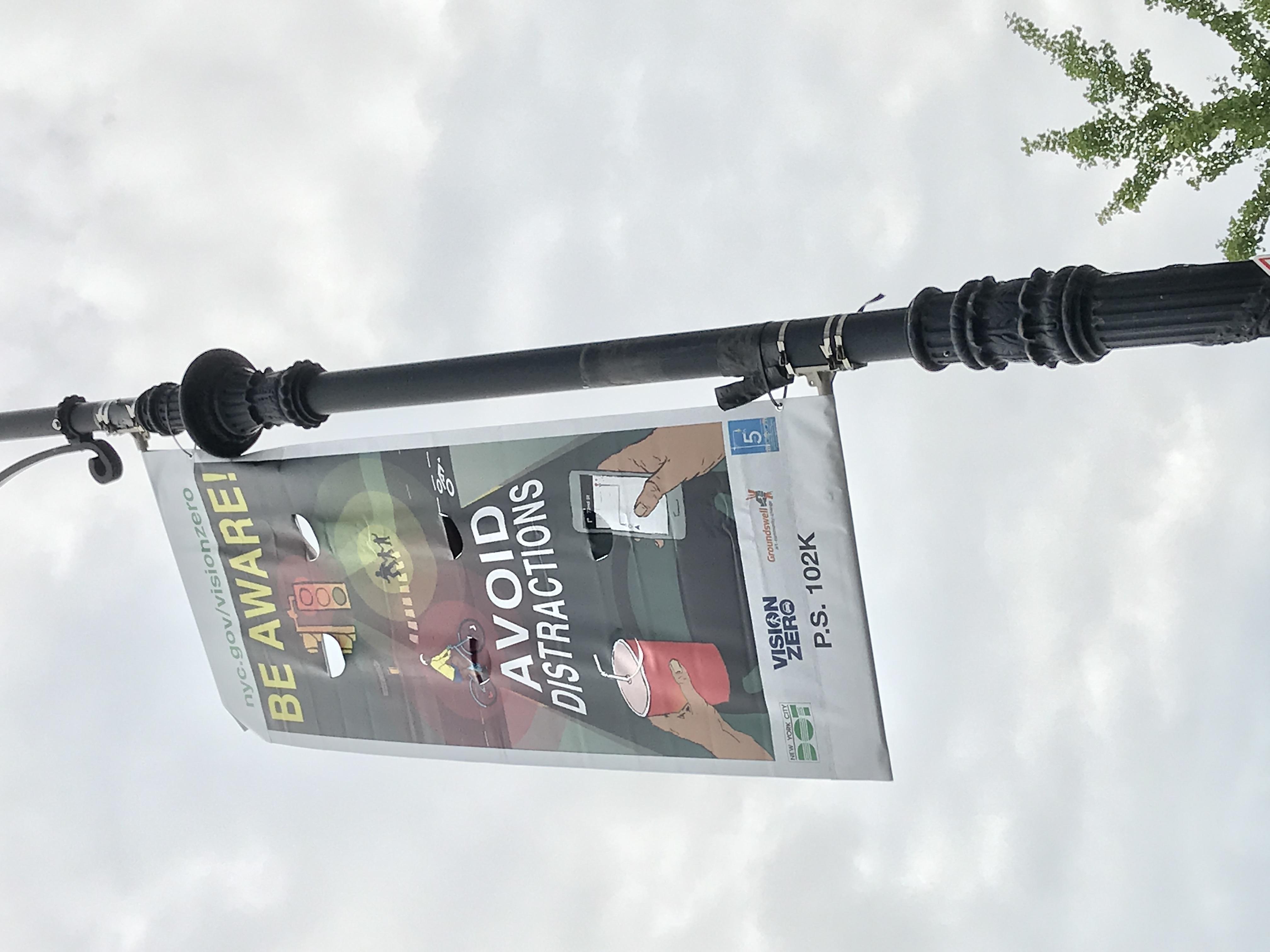 DOT Pedestrian Safety Banner