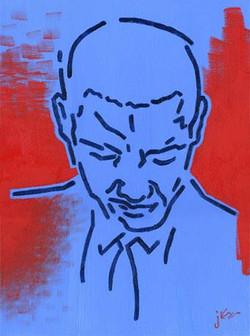 Obama (red & blue)