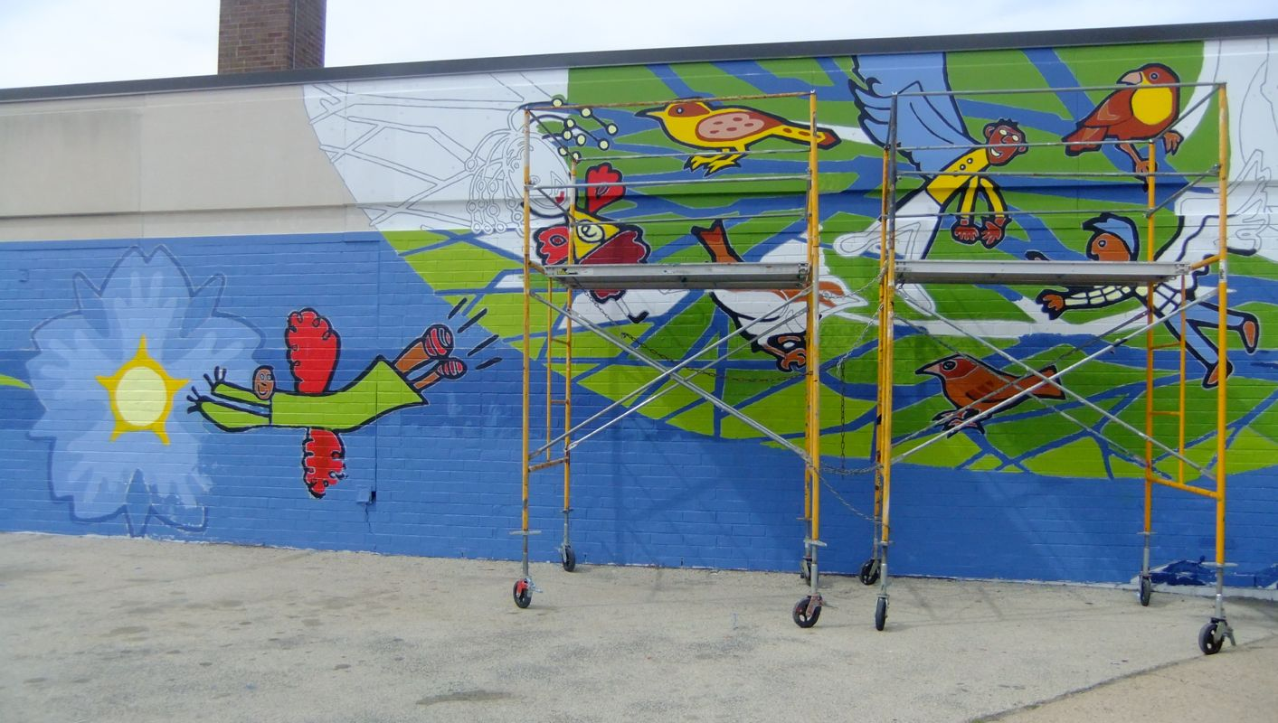 Mural Arts / Eagles Paint Day 2014_9
