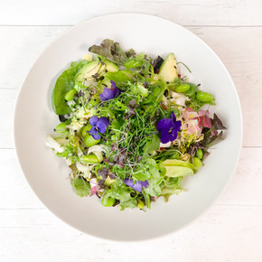 MIXED HERB LEAF SALAD WITH A LEMON AND HERB DRESSING