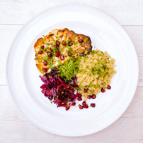 CAULIFLOWER STEAKS WITH MIDDLE EASTERN FLAVOURS