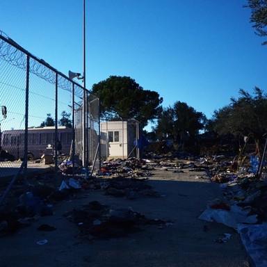 Moria refugee camp in 2016