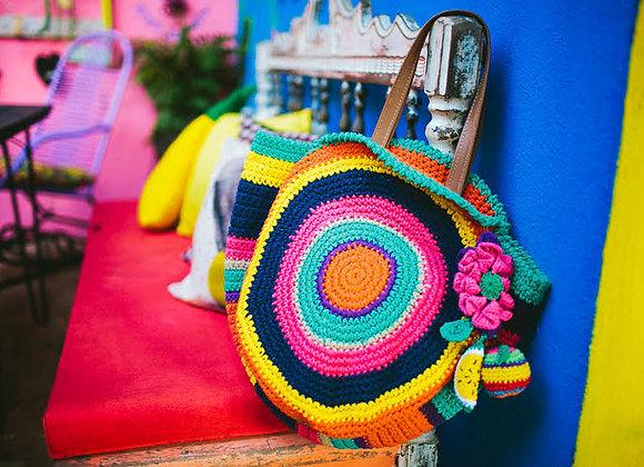 Bolsa colorida - Queridinha Gênesis com Chaveiro Queridinho