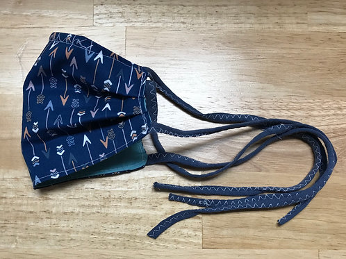 Navy Arrows Homemade Mask