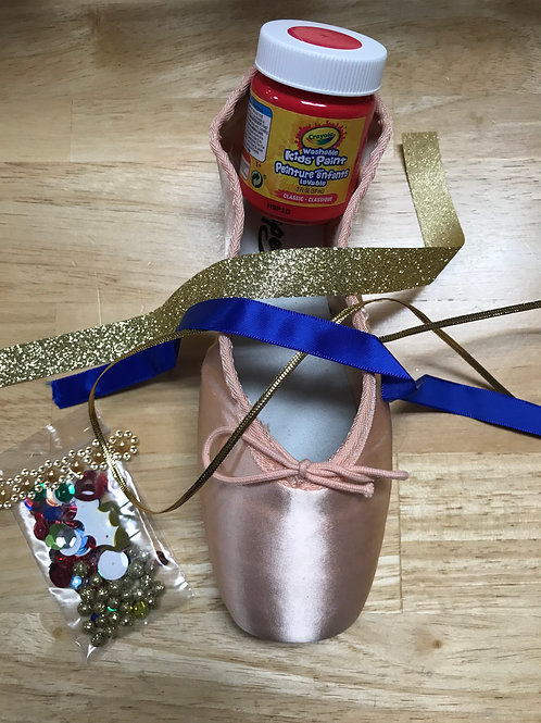 Red Nutcracker Pointe Shoe Decorating Kit