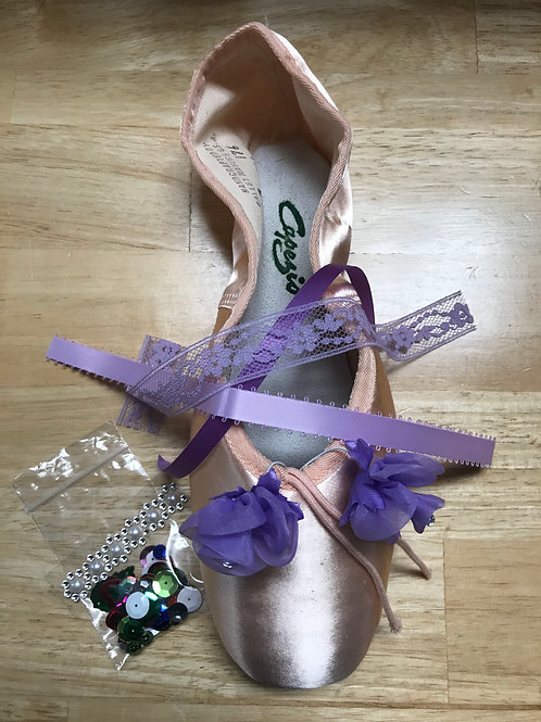 Purple Flower Waltz Nutcracker Pointe Shoe Decorating Kit