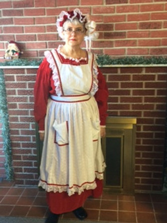 Mrs. Claus - Red with Full Apron
