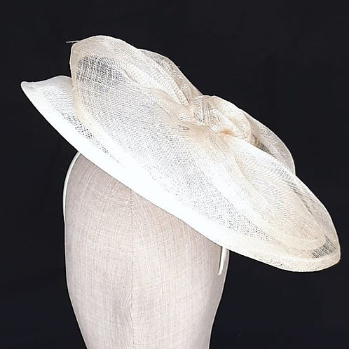 Wide-brimmed Sinamay Hat