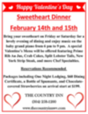 Country Inn Valentine's Package