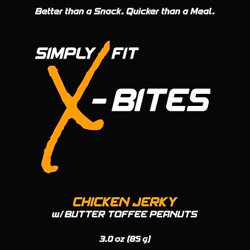 X-Bites Chicken Jerky w/Butter Toffee Peanuts