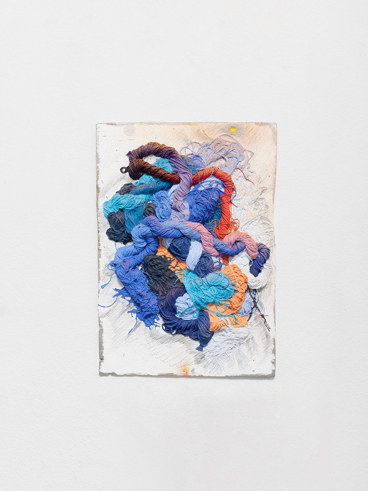 with only, wind sweeps over, 2021 Oil and enamel paint, graphite on cast aluminum 20 x 28 x 2 inches