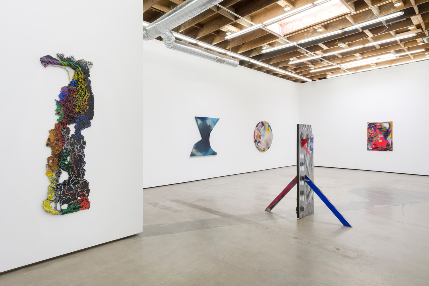 "Installation View from ""The Day in the Night"", 2019 Two-person exhibition at Philip Martin Gallery Los Angeles, CA"