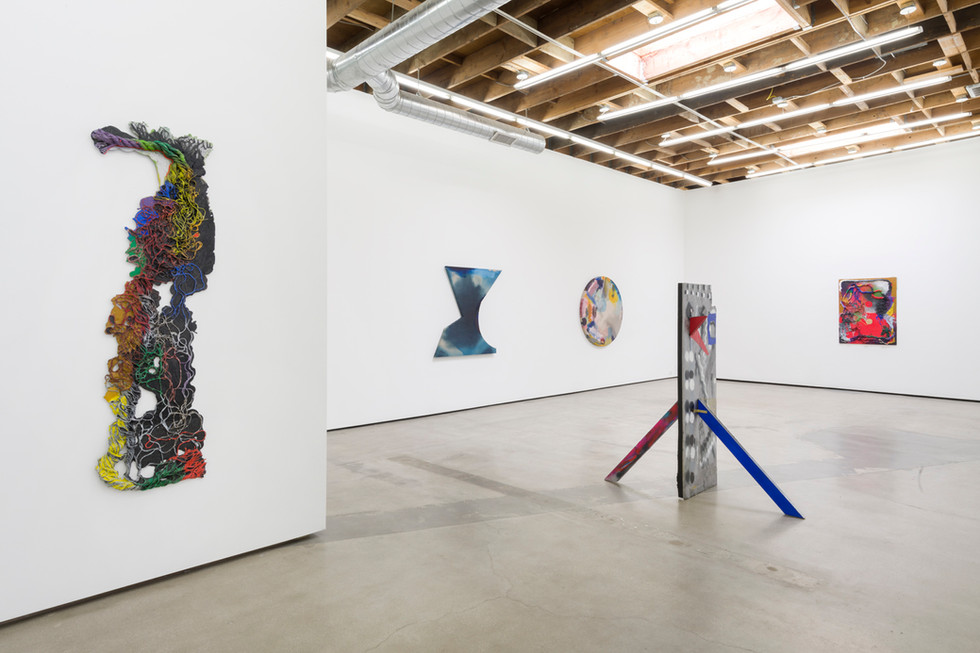 """Installation View from """"The Day in the Night"""", 2019 Two-person exhibition at Philip Martin Gallery Los Angeles, CA"""