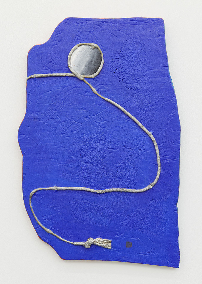 the blue dream, 2019 Oil paint and graphite on cast aluminum 17 x 11.25 x 2 inches