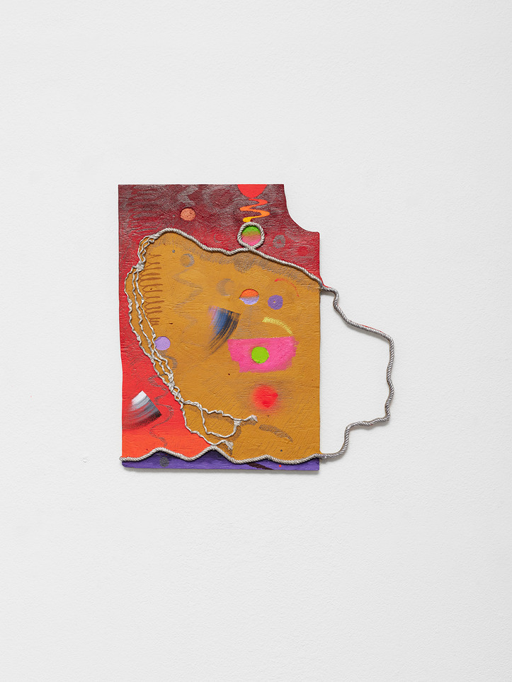 days fall through upon days, 2021 Oil and enamel paint, graphite in cast aluminum 24 x 23 x 2 inches