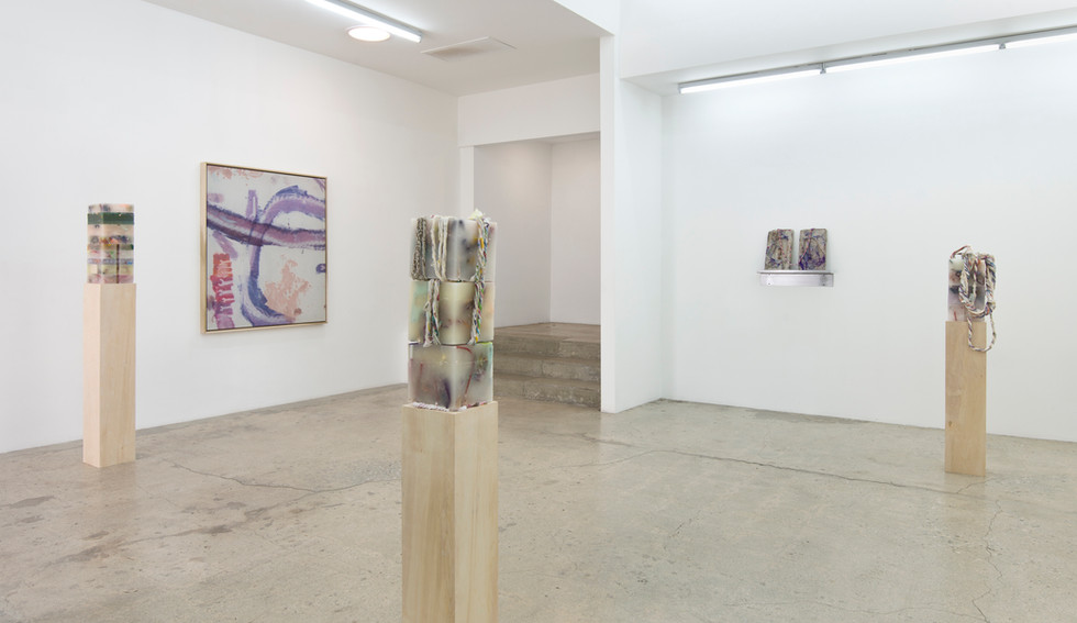 """Installation View from """"Compressionals"""", 2015 Solo Exhibition at Cherry and Martin Los Angeles, CA"""