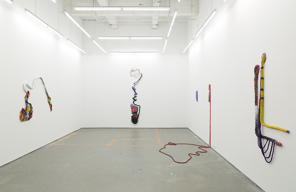 """Installation View from """"The Blue Sun Moans"""", 2020 Solo Exhibition at Kate Werble Gallery New York, NY"""