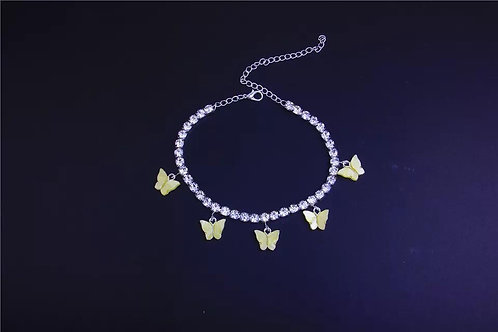 Yellow Butterfly Anklet