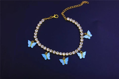 Blue Butterfly Anklet