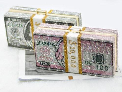 Crystal Money Cluth Purse