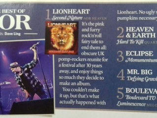 Classic Rock Magazine - Second Nature No.1 AOR Album 2017