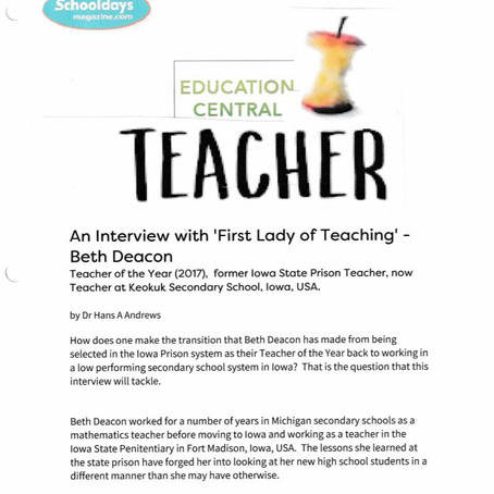 Interview with Beth Deacon by Schooldays Magazine