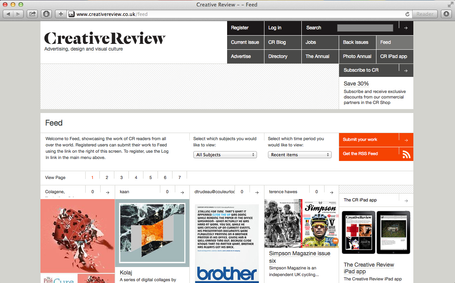 Collages featured on Creative Review