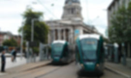 Nottingham Trams and Councl House