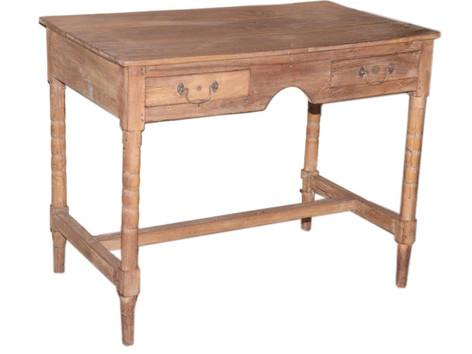 Vintage 1950s Indian Post Office Writing Table in Teak Wood