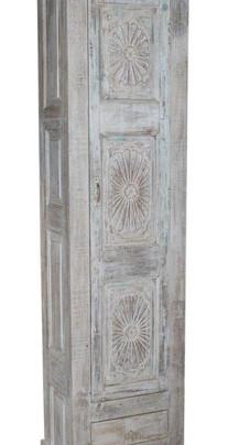 Repurposed Antique Door Panels Armoire in Teak Wood