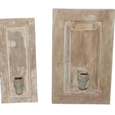 Wall Mounted Recycled Wood Candle Holder