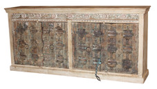 Sideboard from Repurposed Antique Doors in Teak Wood