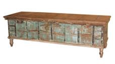 **SOLD** Repurposed Antique Grain Chest Blanket Box in Teak Wood