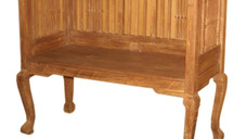 Vintage 1960s Teak Wood Bench