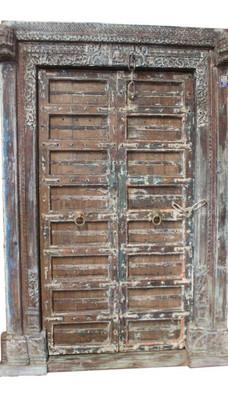 **SOLD** Fully Functional Antique Door in Teak Wood