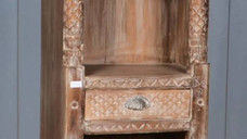 Reclaimed Handcarved Teak Wood Shelf with 1 Drawer