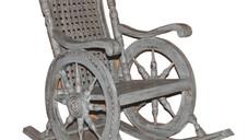 Vintage 1970s Rocking Chair in Teak Wood