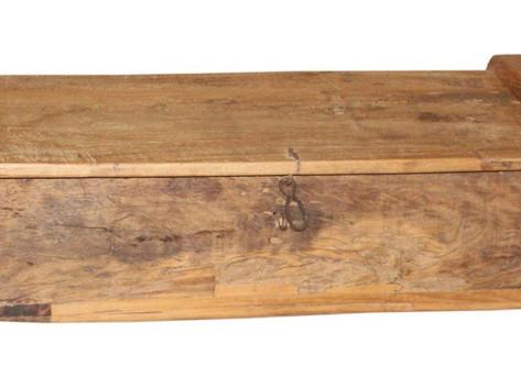Antique Teak Wood Rice Chest