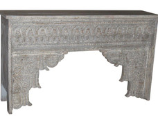 Repurposed Handcarved Antique Archway Facia Console Table