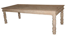 Reclaimed Hand Carved 8-10 seater Dining Table in Teak Wood