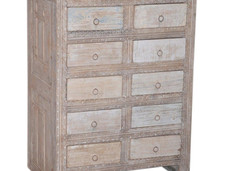 Reclaimed Teak Wood 10 Drawer Sideboard