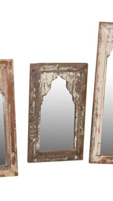Reclaimed Teak Wood Arch Mirror Frame